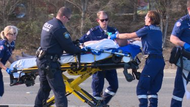 A man has been taken to hospital in a critical condition after an altercation with police.