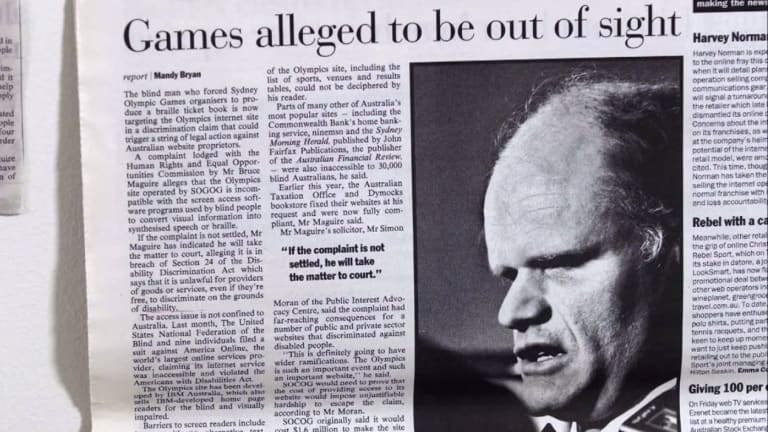 One of the newspaper clippings about Maguire's case.