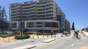 Construction at Scarborough beach is disrupting business.
