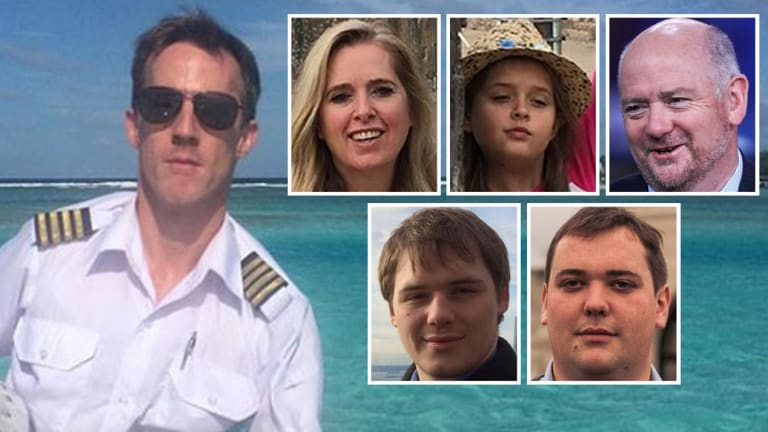 The victims of the New Year's Eve crash, including engaged couple Richard Cousins and Emma Bowden, their children, and pilot Gareth Morgan.
