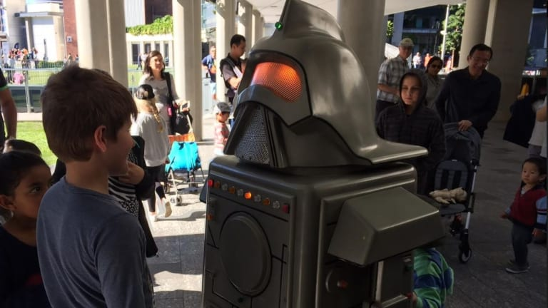Visitors had the chance to meet some interesting robot guests at QUT's Robotronica.