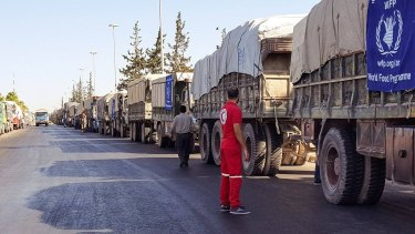 All UN aid convoys have been suspended after an air strike on Monday.