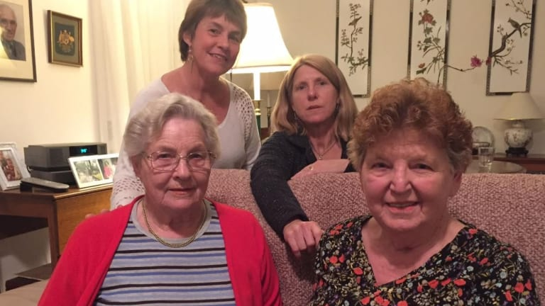 Fighting retirement company Aveo's plans to demolish 74 ground-floor villas are (from left) Patricia Windsor, Elizabeth Bell, Maree Beare and Patricia Dunne.