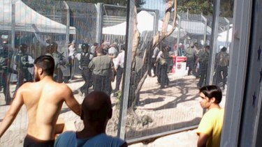 The Manus Island detention centre on the weekend.