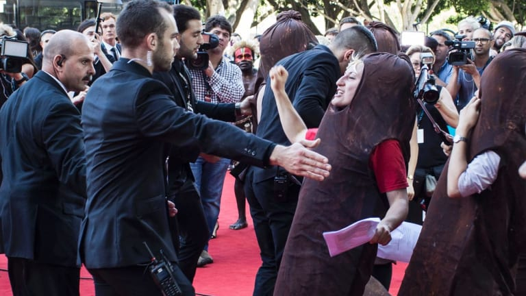 The red carpet sausage fest protest at the Australian Academy of Cinema and Television Arts Awards in December.
