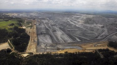 Groups call for permanent protection: Rio Tinto's Warkworth open-cut coal mine in the Hunter Valley.