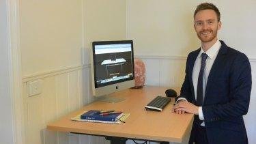 Jordan Lees is banking on standing desks for his business UpDown Desk.