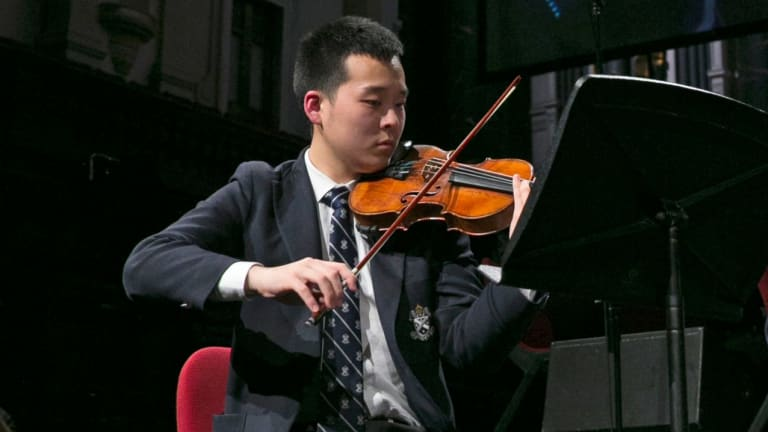 St Andrews Cathedral School scholarship student Bangshuo Zhu says music is part of the school's fabric.