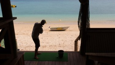 Visitors to the island could work on their short game.