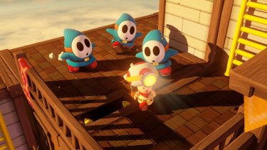 The usually ho-hum shy guy becomes terrifying and quick in <i>Captain Toad</i>, and is often used to guard treasure and secrets.