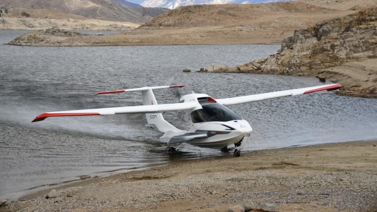 The A5 can land on a runway or a river.