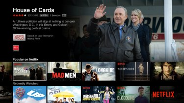 The Australian Netflix has far fewer titles than the US version.