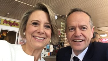 Kristina Keneally with Opposition Leader Bill Shorten at the launch of her campaign for Bennelong.