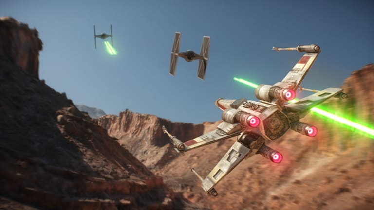 Battlefront II looks and sounds amazing, especially when you take to the skies.