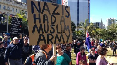 Protesters were vocal in Brisbane but not violent. Police made no arrests.