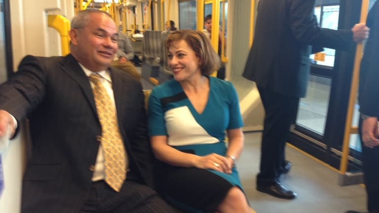Deputy Premier Jackie Trad says some property values close to the Gold Coast light rail route had increased by 40 per cent.