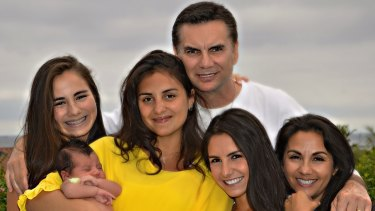 Franzese with his wife Cammy, far right, daughters Julia, Amanda and Miquelle, and granddaughter Olivia.