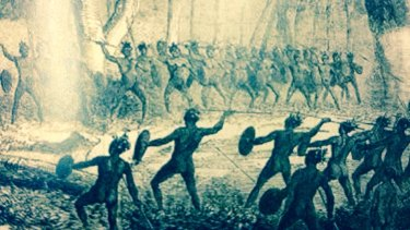 Skirmish between aboriginal people of Logan and Bribie Island on an area of Brisbane near what is now Juliette Street at Woolloongabba.