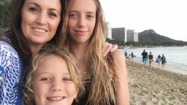 Danielle Smith was holidaying with her husband and their daughter, Ebony, and son, Nixon, when the missile alert came through on Sunday.
