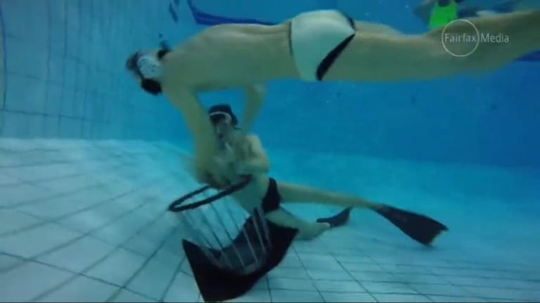 Australia is sending its first underwater rugby team to a World Cup.
