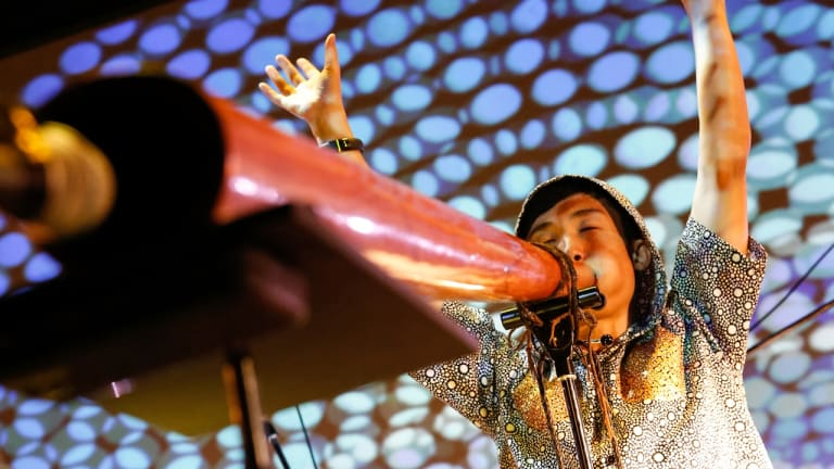 Japanese didgeridoo musician Hiroki Morimoto, known as Goma.