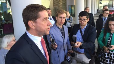Health Minister Cameron Dick presents Lady Cilento Children's Hospital review findings in August.