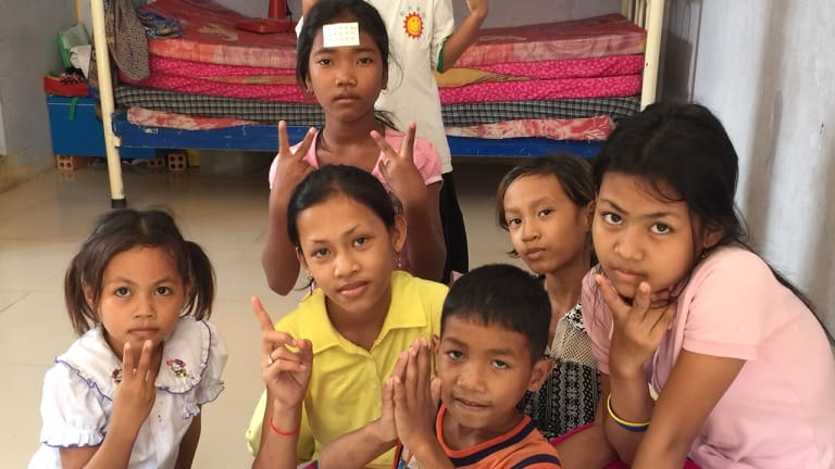 Children at a Phnom Penh orphanage.