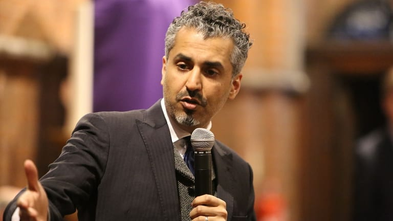 British politician Maajid Nawaz, a prominent speaker on Islamic extremism.