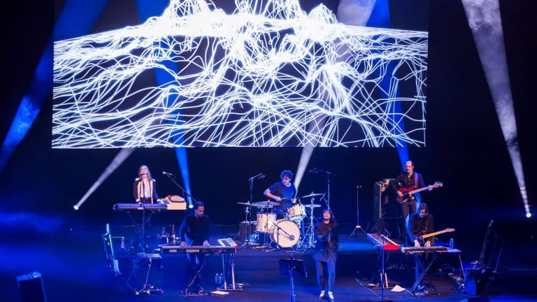 """Sarah Blasko performs at the Graphic Festival at Opera House in 2015: Women in the music industry, she says, """"get under-estimated. I still feel I get treated that way""""."""