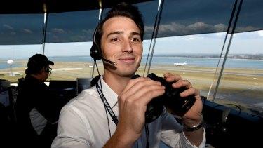 Toby Gaumann at Sydney Airport Control tower.