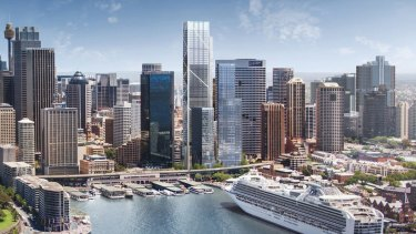 Lendlease has lodged plans for its long-awaited 55-level commercial Circular Quay Tower and new ground-level precinct with the City of Sydney.