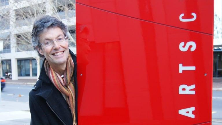 Philip Piggin outside Belconnen Arts Centre