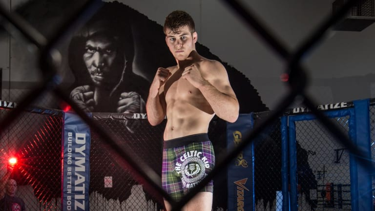 "Local fighter Jake ""The Celtic Kid"" Matthews."