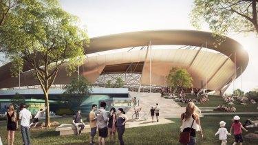 Artist's impression of Queensland State Velodrome