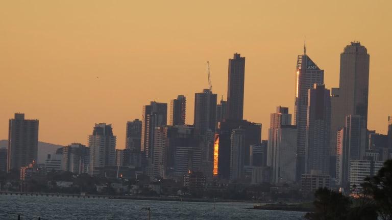 High-rise apartment blocks have transformed Melbourne's skyline.