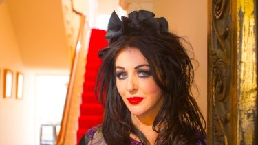 Alannah Hill at home. The Australian fashion designer revealed she has a malignant melanoma.