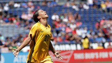 Australia's Sam Kerr has been in red-hot form.