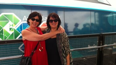 Gail Andrews and Josie Filieri at the Bulimba Ferry and CityCat terminal opening.