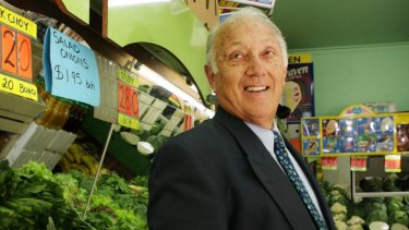 Frank Costa at the Covent Garden shop in Geelong where he started his long career in the fresh produce industry.