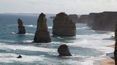 The Twelve Apostles - as seen above the watermark.
