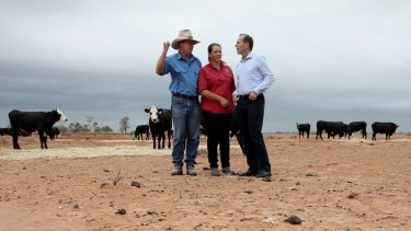 Bourke locals with Prime Minister Tony Abbott in February.