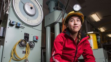 Light at the start of her career: UNSW mining engineer Annette Au.