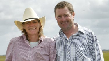 Anne and Hamish Officer, whose property hosts the southern hemisphere's largest wind farm: AGL's Macarthur farm.