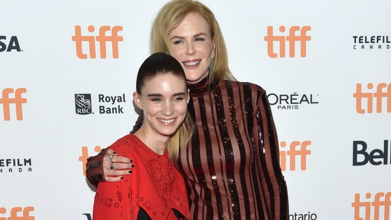 Rooney Mara, left, and Nicole Kidman arrive at the Lion premiere at the Toronto International Film Festival.