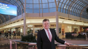 Grant Kelley, CEO of Vicinity Centres, in its flagship Chadstone shopping centre.