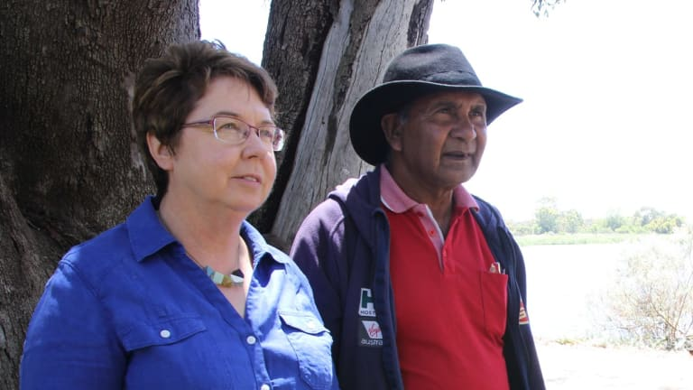 Sealin Garlett, pictured with Greens MP Lynn MacLaren, feels cast aside by the process.