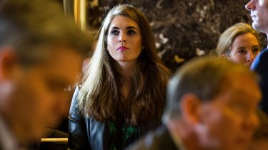 Hope Hicks is renowned for being the spokeswoman who never says anything.