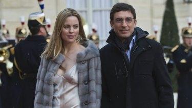 Australian actress Melissa George and former husband Jean-David Blanc.