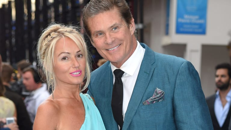 David Hasselhoff with wife, Hayley Roberts.