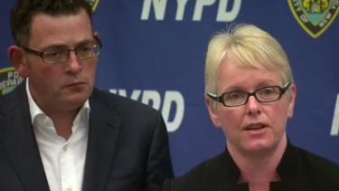 Premier Daniel Andrews and Assistant Commissioner Debra Abbott in New York.